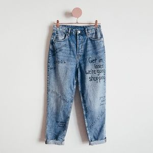 One Of A Kind Mean Girls Blue Denim Jeans Size 6